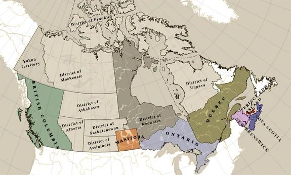 Early Canada Map Postal History Society of Canada (PHSC)